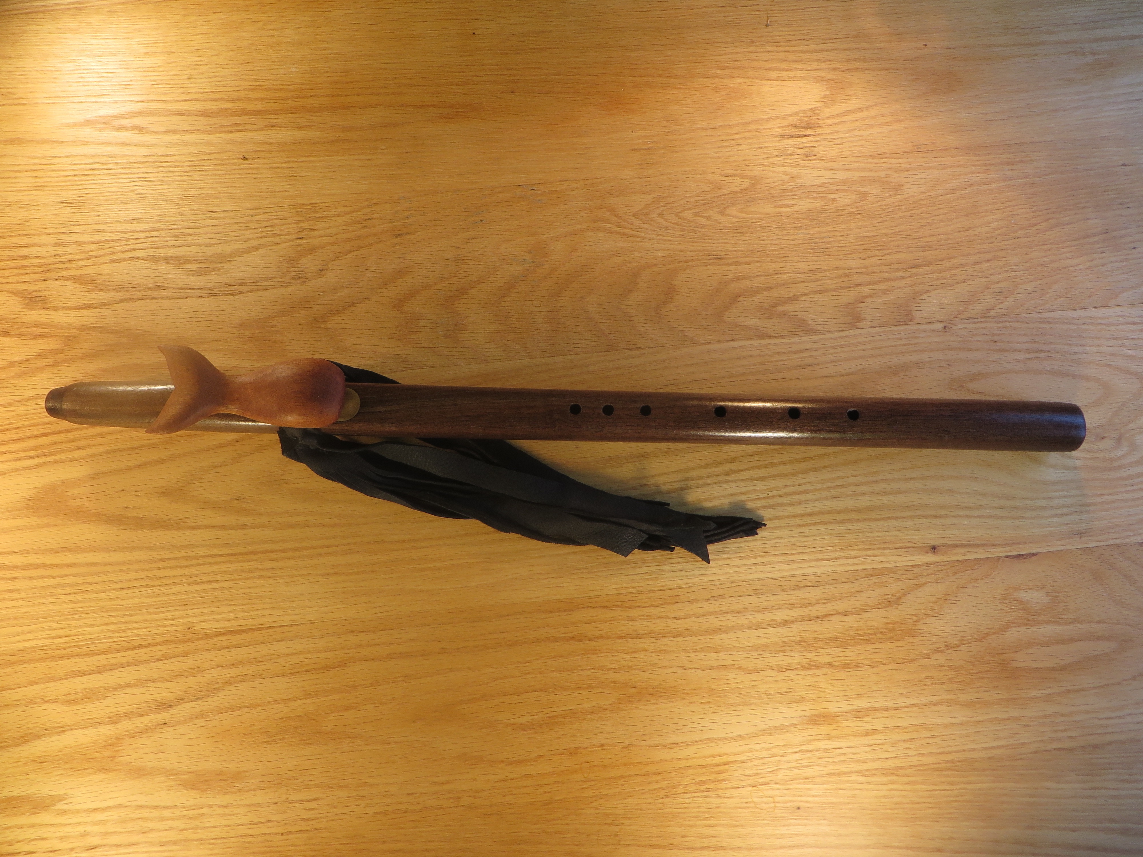 Black Walnut %22D%22 Whale Totem $425.00