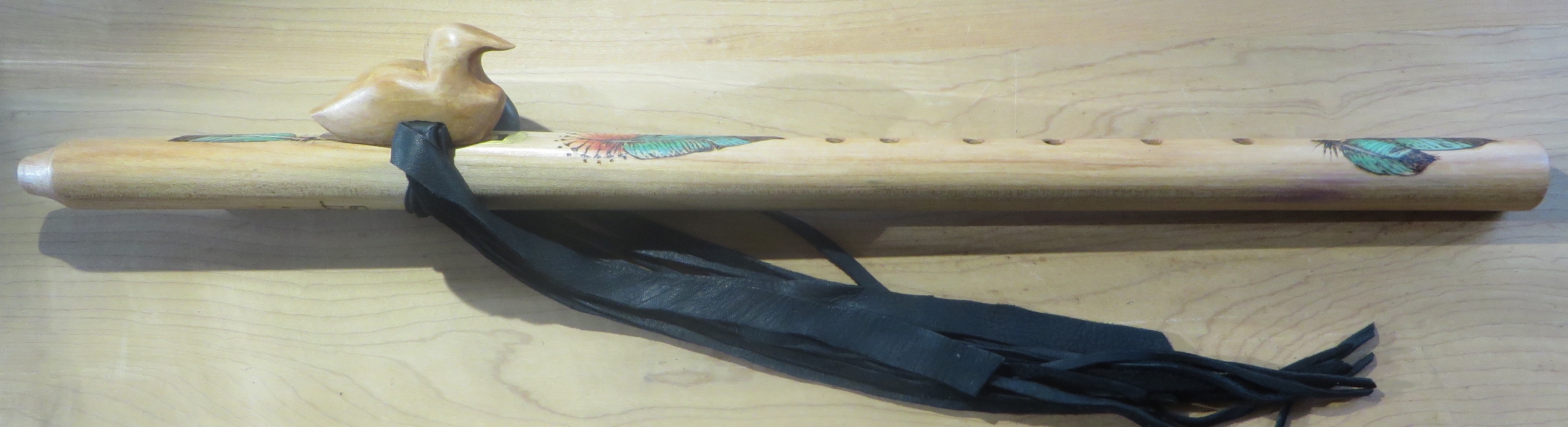 Maple F# Loon Totem Feather Painting