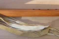 E Yew Wood Feather Totem $600.00
