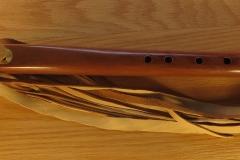 Yew Wood Feathe Totem $375.00