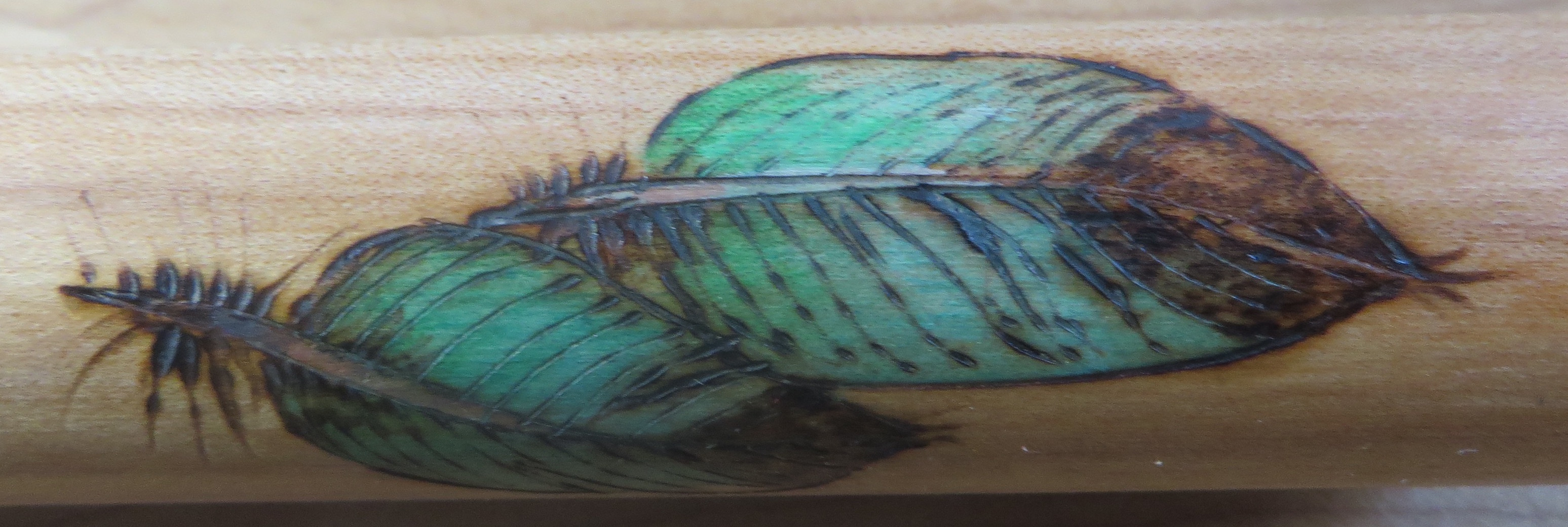 Maple F# Single Feather Painting