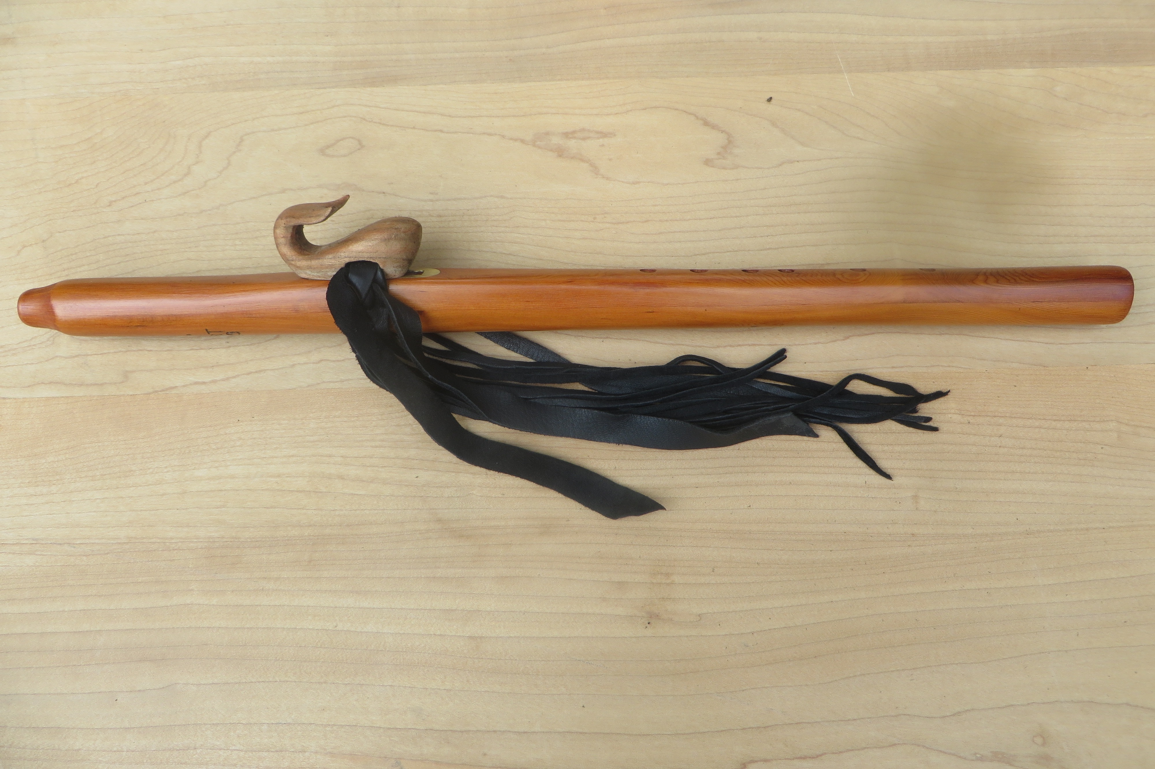 Yew Wood A Whale Totem $400.00